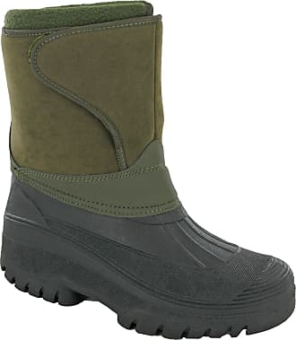 Groundwork Snow Winter Ice Boots Wellingtons Calf 1/2 Mens UK 7-11 (UK 10 / EU 44, Khaki)