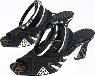Fendi 8 cm fabric and leather sandal Größe 35,5