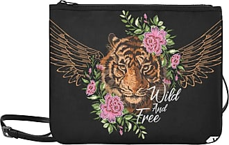 Yushg Crossbody Handbag Floral Flowers Embroidery Tiger Wild And Free Adjustable Shoulder Strap Fashion G Bag For Women Girls Ladies Cute Fashion Bags Cross