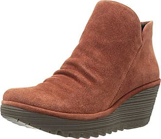 FLY London Womens Yip Ankle Boot, Brick Oil Suede, 37 M EU (6-6.5 US)