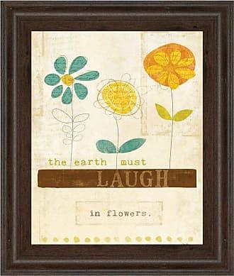 Classy Art Laugh in Flowers Framed Wall Art - 8158