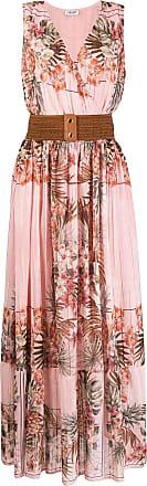 Liu Jo tropical floral-print belted maxi dress - PINK