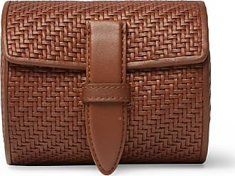 Ermenegildo Zegna Pelletessuta Leather Watch Roll - Tan