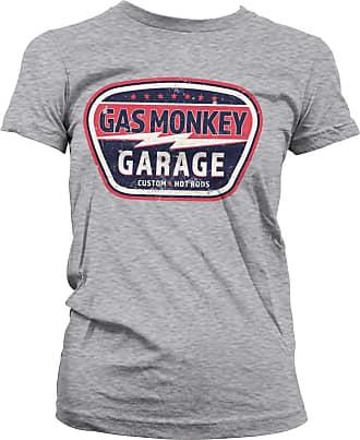 Gas Monkey Garage Officially Licensed Vintage Custom T-Shirt (Heather Grey), XXL