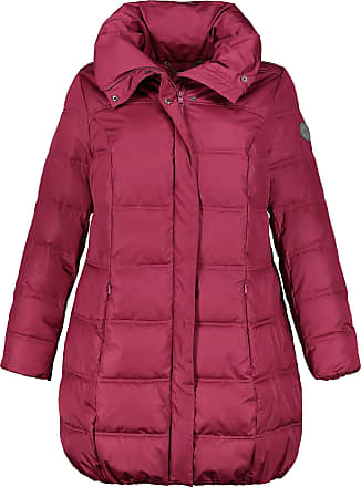 Ulla Popken Womens Plus Size Princess Seam Quilted Coat Berry 28/30 718674 59-54+