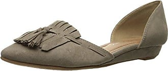 Chinese Laundry Womens Seline Pointed Toe Dorsay Flat, Dark Taupe Super Suede, 8 M US