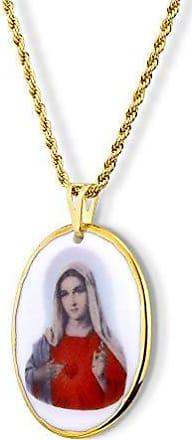 Design Medalhas Pingente Medalha Sagrado Coração de Maria ouro