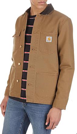 c997e2cd5b77 Carhartt Work in Progress Veste col classique style workwear regular-fit  boutonnée en coton
