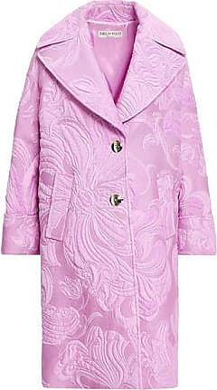 Emilio Pucci Emilio Pucci Woman Cotton-blend Brocade Coat Lavender Size 40