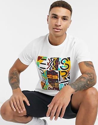 Esprit Weißes T-Shirt mit Print auf der Brust