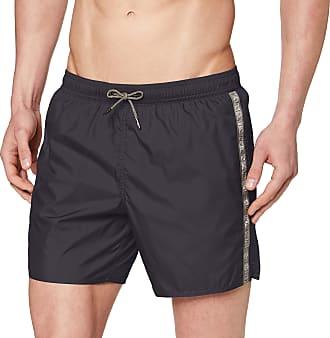 Emporio Armani Mens Boxer Beachwear Logo Tape Swim Trunks, Grey (Anthracite 02842), Medium (Size: 50)