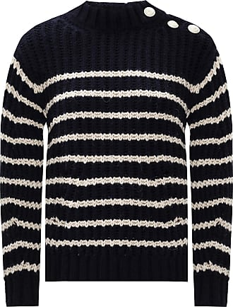 Zadig & Voltaire Knit-rib Sweater Womens Navy Blue