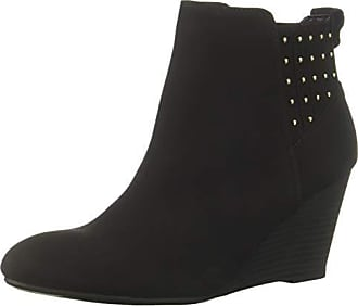 xoxo Womens Barnett Fashion Boot Black 6.5 M US