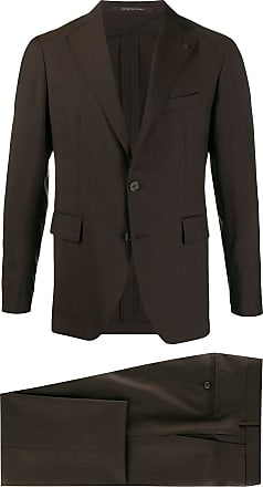 Tagliatore lapel-pin blazer - Brown