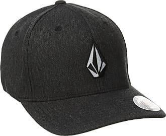 Volcom Mens Full Stone Heather Flexfit Stretch Twill Hat,Charcoal Heather,Large/X-Large
