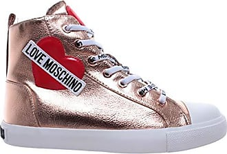 Love Moschino Damen Schuhe High Top Sneaker SCA Nod Gomma 30 Lamin Pu Rame 9214274f62