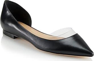 Tamara Mellon Darling Black Capretto Flats, Size - 35.5