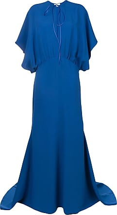 Esteban Cortazar Vestido de festa drapeado - Azul