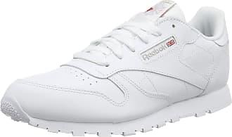 Reebok Classic Leather, Unisex Kids Low-Top Sneakers Low-Top Sneakers, White, 4.5 UK (36.5 EU)