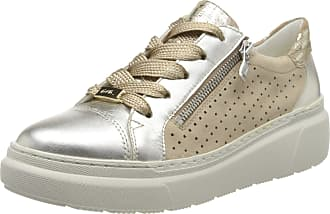 Ara Womens Lausanne Sneaker, Multicoloured White Gold Camel 05 6.5 UK