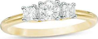 Zales 1/2 CT. T.w. Diamond Three Stone Engagement Ring in 10K Gold