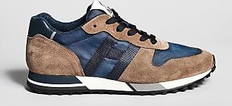 Reposi Calzature HOGAN H383 - Sneakers in suede blu e marrone