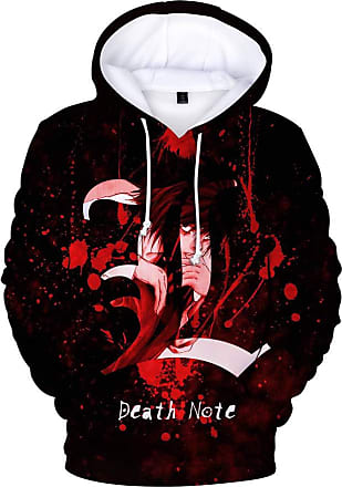 Haililais Death Note Pullover Personality Sweatshirt Winter Hooded Parent-Child wear Tops Printed Pullover Unisex (Color : A03, Size : 120)
