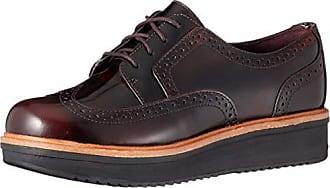 Clarks Teadale Maira Aubergine Oxford Schuhe Damen | Auf Verkauf
