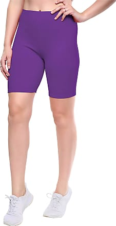 Love my Fashions Womens Seamless Plus Size Plain Elasticated Over-Knee Cycling Shorts Ultra Soft Non-Slip Knickers Ladies Stretch Active Yoga Pants for Gym Sports Outd