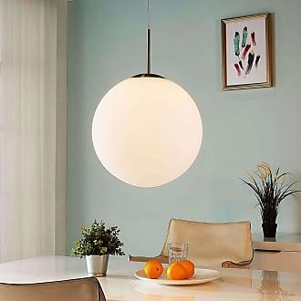 Lindby Lámpara colgante Marike esférica vidrio opalino