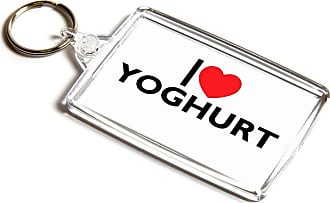ILoveGifts KEYRING - I Love Yoghurt - Novelty Food & Drink Gift