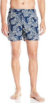 OndadeMar Mens Sand Fit Floral Snap Front Fixed Waist Swim Trunk
