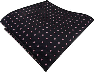 TigerTie silk handkerchief in black pink dotted - handkerchief 100% silk