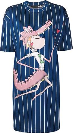 Love Moschino striped printed dress - Blue