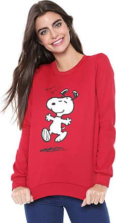b37535caa0 Snoopy Moletom Flanelado Fechado Snoopy Estampado Vermelho