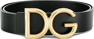 Dolce & Gabbana Cinto com placa de logo - Preto