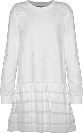 Opening Ceremony Opening Ceremony Woman Ruffled Gauze-paneled Embroidered Cotton-terry Mini Dress White Size L