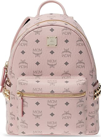 MCM Logo Backpack Womens Pink