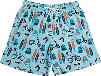 Mash Short Bermuda Estampado Objetos Liso Com Bolso Mash Moda Praia Com Elástico Verão Oferta