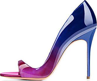 b7bd101ec6640a Onlymaker Damen Pumps Sommer Sandalen Peep Toe DOrsay High-Heels Glitzer  Stiletto Violett EU40