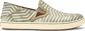 Olukai Womens Pehuapai Slip-On Loafer, Silt/Off White, 7.5 B(M) US