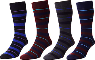 Hj Hall Mens Pack of 4 Assorted Fancy Cotton Dress Socks