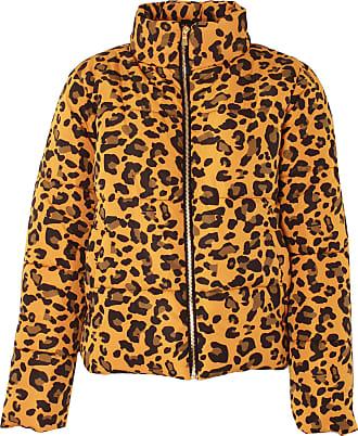 Love my Fashions Khushi Leopard Print Padded Jacket Mustard Yellow