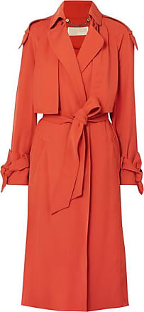Michael Kors Trench-coat En Cady À Ceinture - Rouge brique 86a25174983