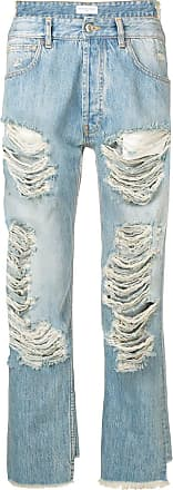 Ih Nom Uh Nit destroyed asymmetric jeans - Blue