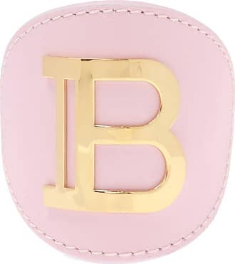 Balmain Hair Clip With Logo Womens Pink
