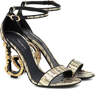 Dolce & Gabbana Keira 105 baroque metallic sandals