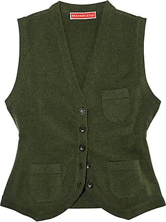Franken & Cie. Vest Lambswool, green