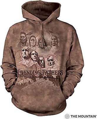 The Mountain The Founders Adult Hoodie, Brown, Large