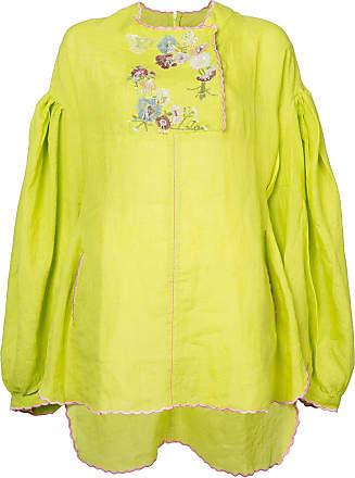 Natasha Zinko embroidered tunic top - Di colore giallo
